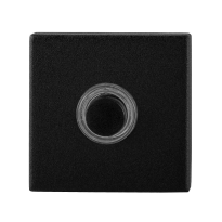Doorbell with black button GPF8826.02 square 50x50x8 mm black