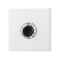 Doorbell with black button GPF8826.42 square 50x50x8 mm white