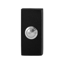 Doorbell with black button GPF8827.01 rectangular 70x32x10mm black