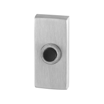 Doorbell with black button GPF9826.01 rectangular 70x32x10 mm satin stainless steel
