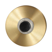 Doorbell with black button GPF9826.09P4 round 50x8 mm PVD satin brass