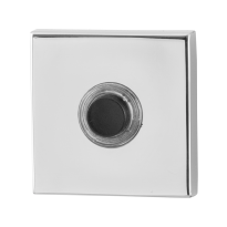Doorbell with black button GPF9826.42 square 50x50x8 mm polished stainless steel