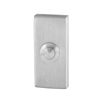 Doorbell with stainless steel button GPF9827.01 rectangular 70x32x10 mm satin stainless steel