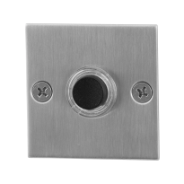Doorbell with black button GPF9826.08 square 50x50x2 mm satin stainless steel