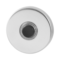 Doorbell with black button GPF9826.40 round 50x8 mm polished stainless steel