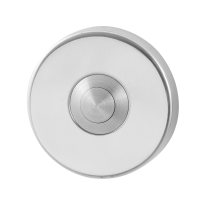 Doorbell with stainless steel button GPF9827.40 round 50x8 mm polished stainless steel