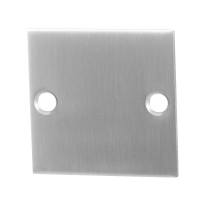 Blind rose GPF0900.08 50x50x2mm satin stainless steel