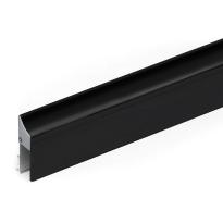 Cassette/holder profile for drop seal 1000 mm, black