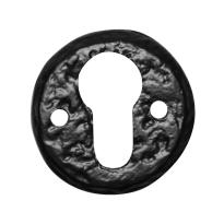 Cylinder rose KP1401 50mm wrought iron black