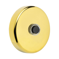 Doorbell 107 round 50x10 mm PVD brass