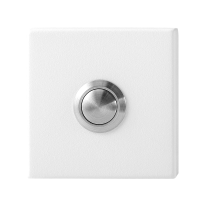 Doorbell with black button GPF8827.42 rectangular 70x32x10mm white