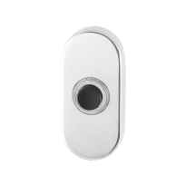 Doorbell with black button GPF9826.44 oval 70x32x10 mm polished stainless steel