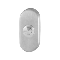 Doorbell with stainless steel button GPF9827.04 oval 70x32x10 mm satin stainless steel