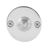 Doorbell with stainless steel button GPF9827.46 round 50x2 mm polished stainless steel