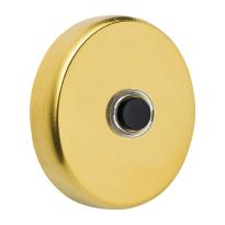 Doorbell 107 round 50x10 mm PVD satin brass