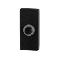 Doorbell with black button GPF8826.01 rectangular 70x32x10mm black