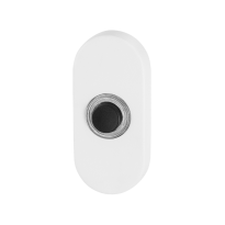Doorbell with black button GPF8826.44 oval 70x32x10 mm white
