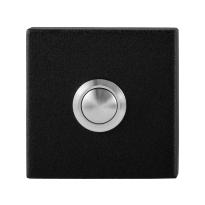 Doorbell with black button GPF8827.02 rectangular 70x32x10mm black