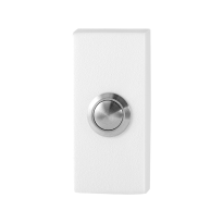 Doorbell with black button GPF8827.41 rectangular 70x32x10mm white
