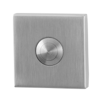 Doorbell with stainless steel button GPF9827.02 square 50x50x8 mm satin stainless steel