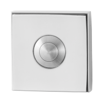 Doorbell with stainless steel button GPF9827.42 square 50x50x8 mm polished stainless steel