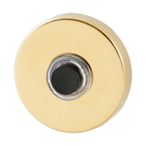 Doorbell GPF9926.69 round 50x8 mm PVD brass