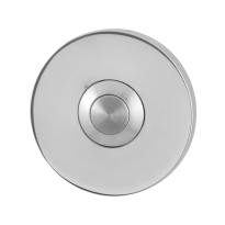 Doorbell with stainless steel button GPF9827.45 round 50x6 mm polished stainless steel