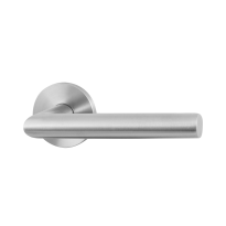 GPF115VR door handle on rose pointing right