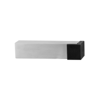 Door stop GPF0738.09 satin stainless steel 85x20mm