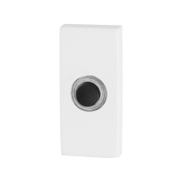 Doorbell with black button GPF8826.41 rectangular 70x32x10mm white