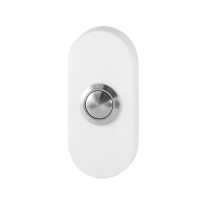 Doorbell with black button GPF8827.44 rectangular 70x32x10mm white