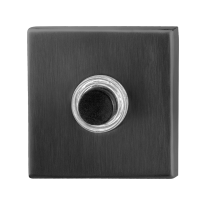 Doorbell with black button GPF9826.02P1 square 50x50x8 mm PVD anthracite