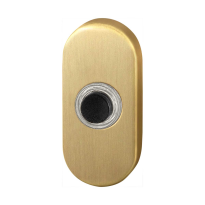 Doorbell with black button GPF9826.04P4 oval 65x30x10 mm PVD satin brass