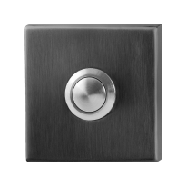 Doorbell with black button GPF9827.02P1 square 50x50x8 mm PVD anthracite