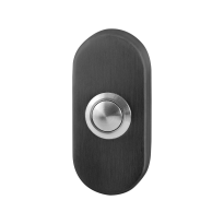 Doorbell with black button GPF9827.04P1 square 50x50x8 mm PVD anthracite