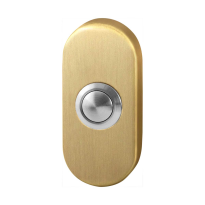 Doorbell with black button GPF9827.04P4 oval 65x30x10 mm PVD satin brass