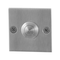 Doorbell with stainless steel button GPF9827.08 square 50x50x2 mm satin stainless steel
