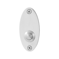 Doorbell with stainless steel button GPF9827.43 oval 80x38x2 mm polished stainless steel