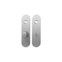 Short backplate GPF1100.10 bathroom 57/5 big knob satin stainless steel