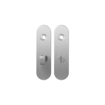 Short backplate GPF1100.10 bathroom 57/5 normal knob satin stainless steel