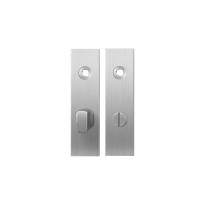 Short backplate GPF1100.15 bathroom 63/8 big knob satin stainless steel