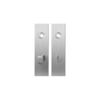 Short backplate GPF1100.15 bathroom 63/8 normal knob satin stainless steel