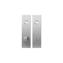 Short backplate GPF1100.15 bathroom 72/8 normal knob satin stainless steel