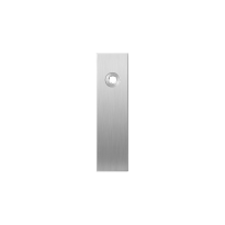 Short backplate GPF1100.15R right handed satin stainless steel