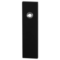 Short backplate GPF8100.15 bathroom 57/5 big knob black