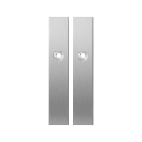 Long backplate GPF1100.25 satin stainless steel