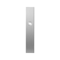 Long backplate GPF1100.25R blind right handed satin stainless steel