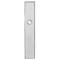 Long backplate GPF1100.65 polished stainless steel