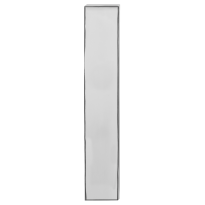 Long backplate GPF1200.65L/R 92PZ without latch polished stainless steel