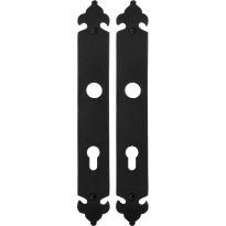 Long backplate GPF6100.25 72PZ wrought iron black